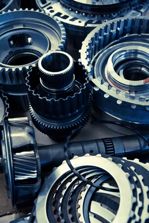 spare parts: image of automobile gear assembly Stock Photo