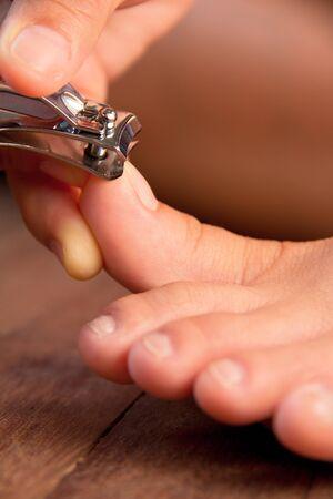 Cutting your toenails Stock Photo - 13524574