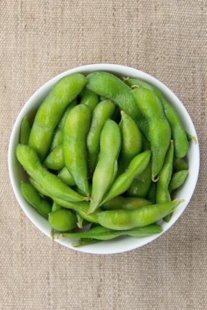 Edamame soy beans photo