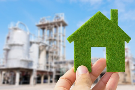hand holding eco house icon, save energy concept Stock Photo - 13809841