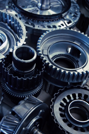 automobile workshop: automobile gear assembly