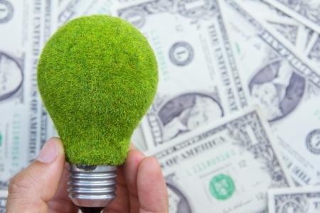 overuse: eco light bulb concept