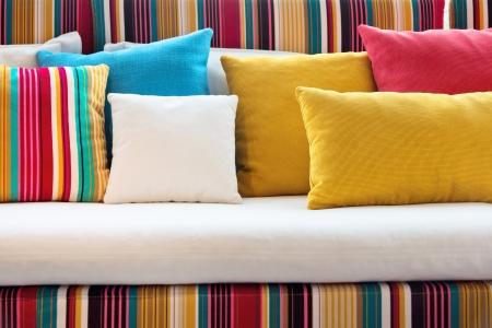 Decorative pillow natural Fabric Stock Photo - 14591531