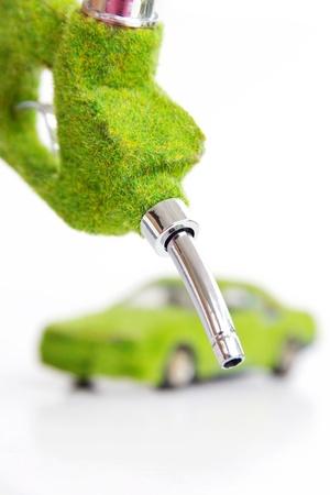 fuelling station: boquilla de combustible ecológico, concepto de energía
