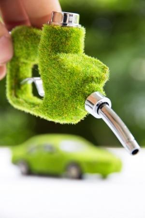 boquilla de combustible ecológico Foto de archivo