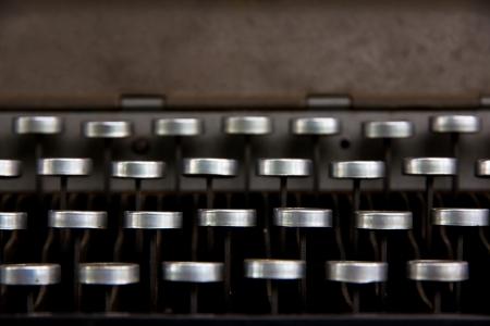 illiterate: Old typewriter  Stock Photo
