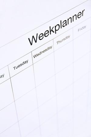 Woche planner Bord