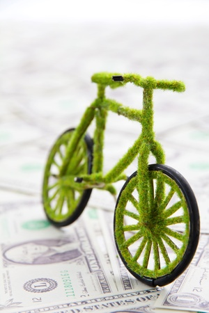 bicycle pedal: Eco bicycle icon concept Stock Photo