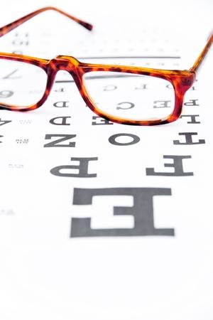 sight chart: optometr�a concepto