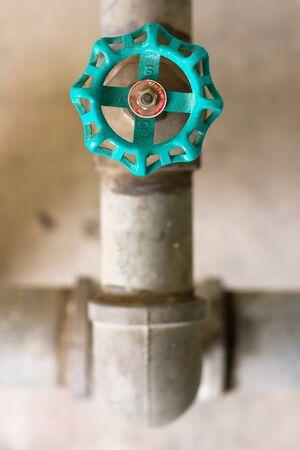 dirty water: Water valve  Stock Photo