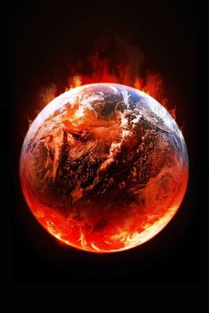 photographic effects: Global Warming  Stock Photo
