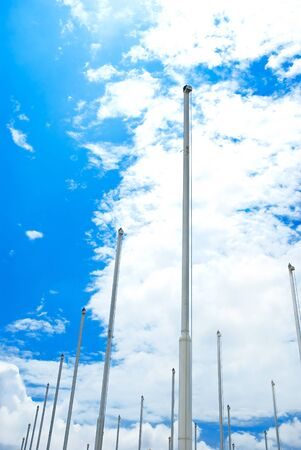 flagstaff: Flagstaff on blue sky