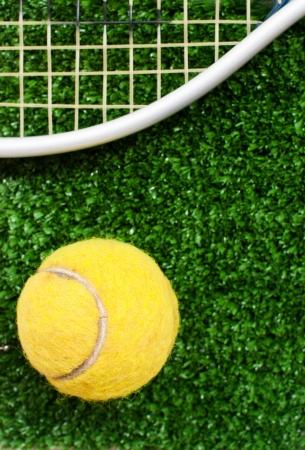 tennis: balle de tennis sur le court