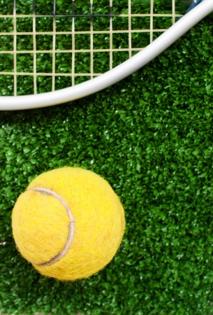 tennis ball on court Stock Photo - 16114091