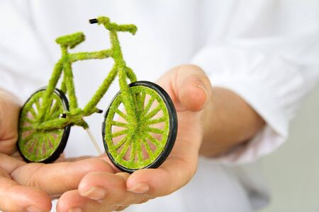eco innovation: eco bicycle icon