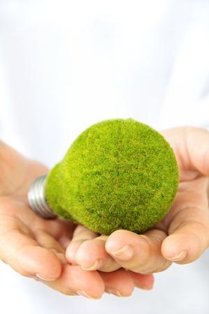 overuse: green light bulb Stock Photo