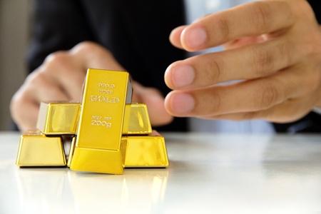 gold bars 版權商用圖片 - 16892817