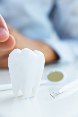 abstract tooth: dental concept