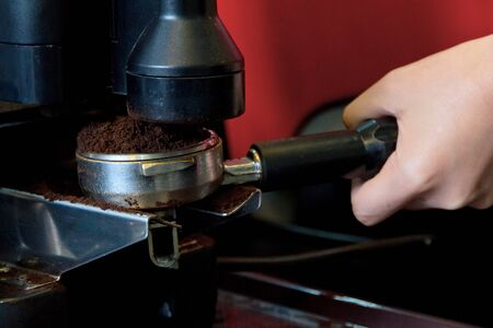 percolate: making coffee concept Stock Photo
