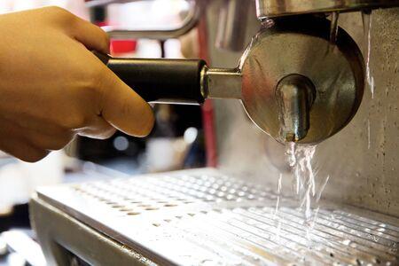 percolate: coffee maker equipment Stock Photo