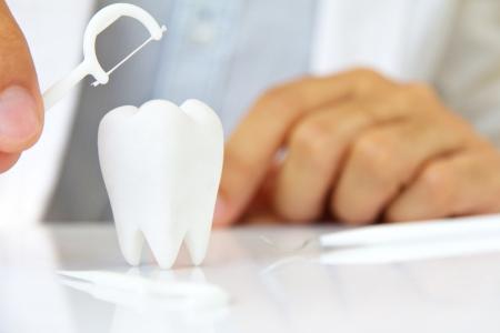flossing: flossing teeth concept