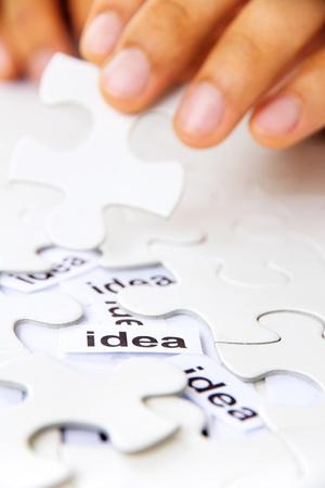 missing puzzle piece, find idea concept Stock Photo - 19286995