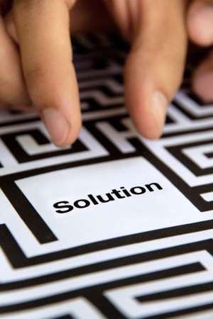 solution concept Stock Photo - 19728674
