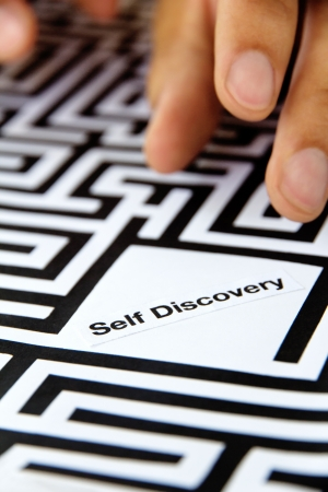 self discovery: self discovery concept Stock Photo