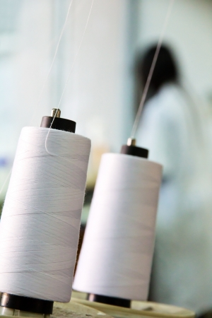 textile industry: Textile industry Stock Photo