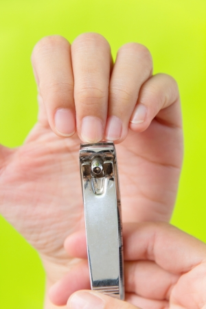 trims: hand manicure with nail clipper