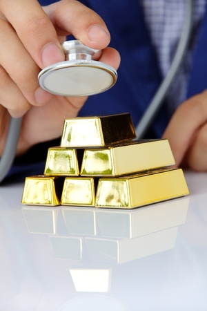 concept image of gold bars Stock Photo - 21954577
