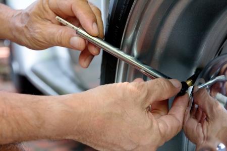 air pressure: Checking air pressure background
