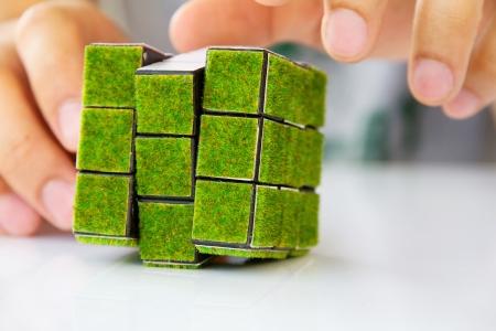green cube concept