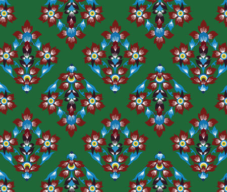 asian art: Asian tradition art pattern Illustration