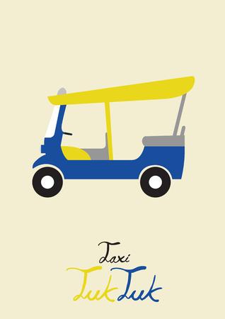thailand culture: taxi tuk tuk