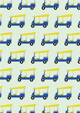 thailand culture: taxi tuk tuk pattern background,vector Illustration