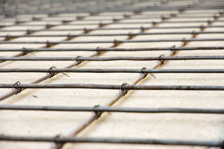 reinforced: detail of reinforced concrete,floor construction Stock Photo