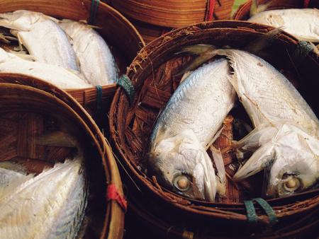 city fish market: Mackerel fish in local market, Thailand  Stock Photo