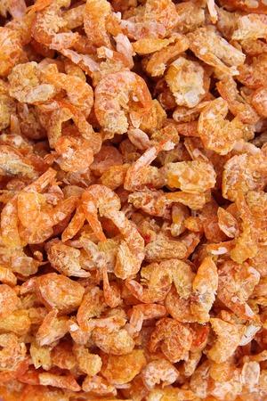 Dried shrimp background photo