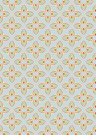 thai traditional style art pattern background  Illustration