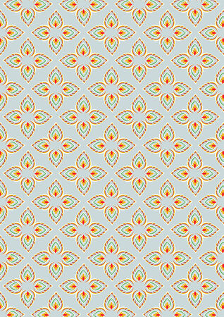 thai traditional style art pattern background  Vector