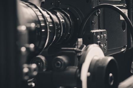 close up van Professionele digitale videocamera Stockfoto