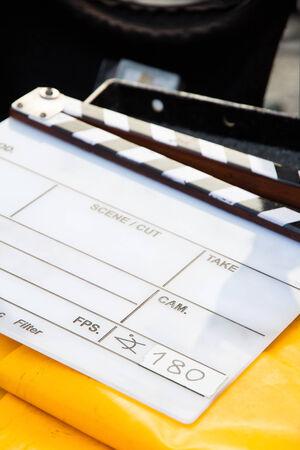 slate: Film Slate Stock Photo