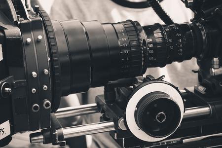 close up of Professional digital video camera  Standard-Bild