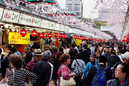 Nakamise shopping street in Asakusa,Tokyo Japan