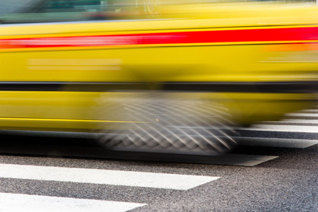 tokyo prefecture:  zebra crossing in tokyo with motion