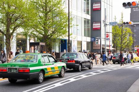 harajuku: Traffic jam on the main crossroad of Harajuku shopping street