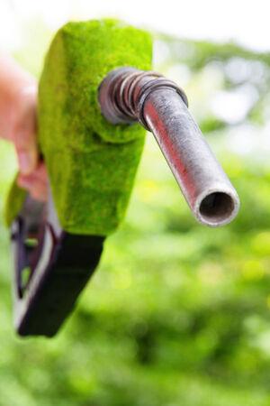 tanque de combustible: boquilla de combustible ecológico, Llenar el concepto de tanque de gas