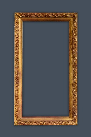 matted: vintage picture frame, gold plated Stock Photo