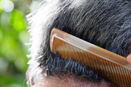 comb hair: Comb hair  Stock Photo